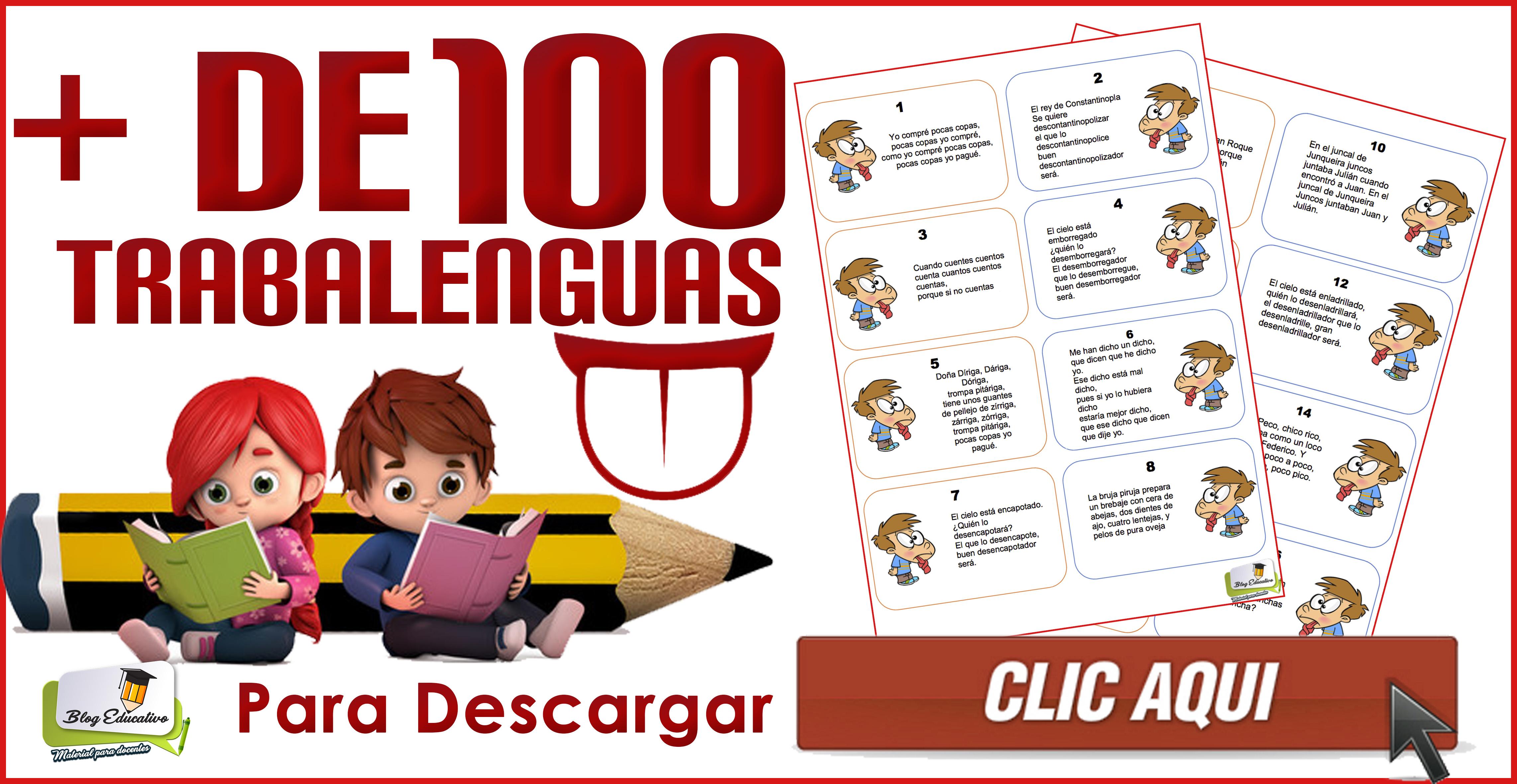 Más de 100 trabalenguas para mejorar la dicción de los pequeños ...