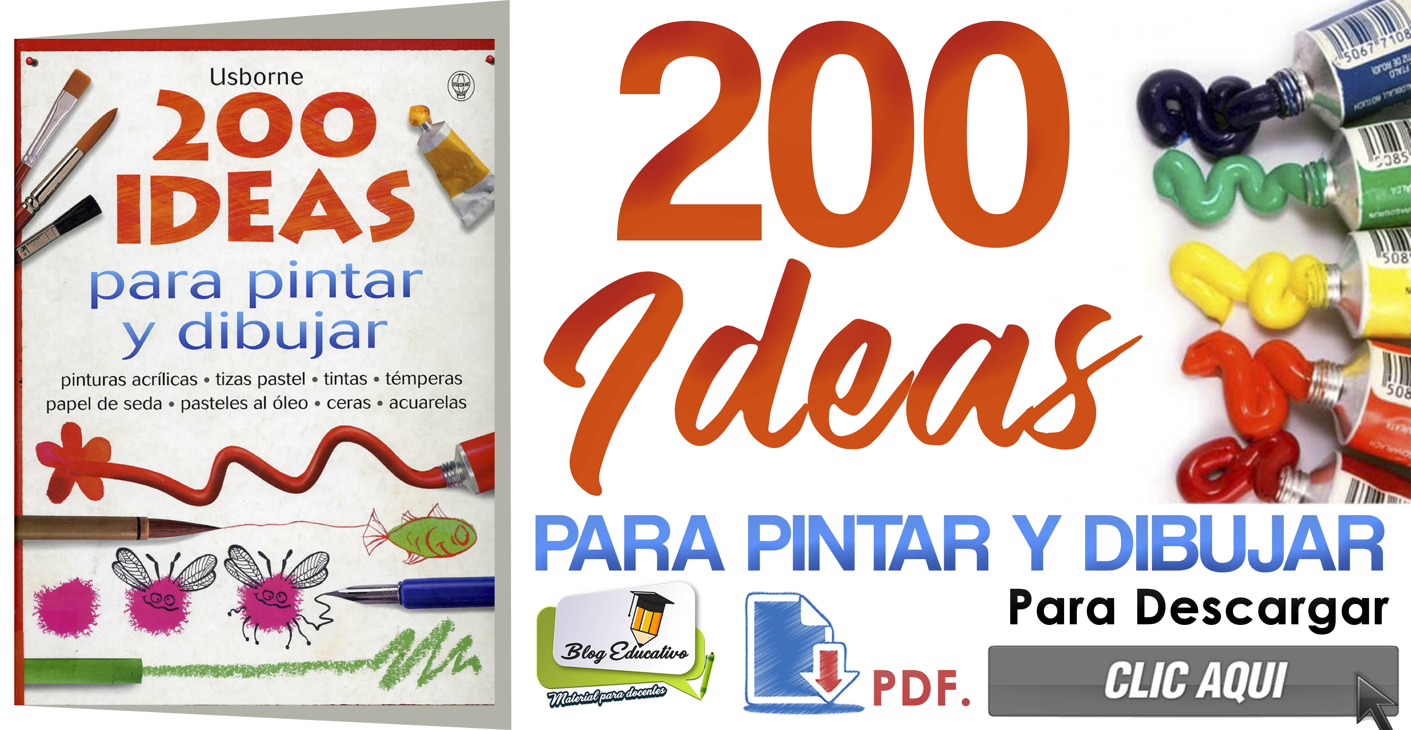 200 Ideas para pintar y dibujar gratis - Blog Educativo