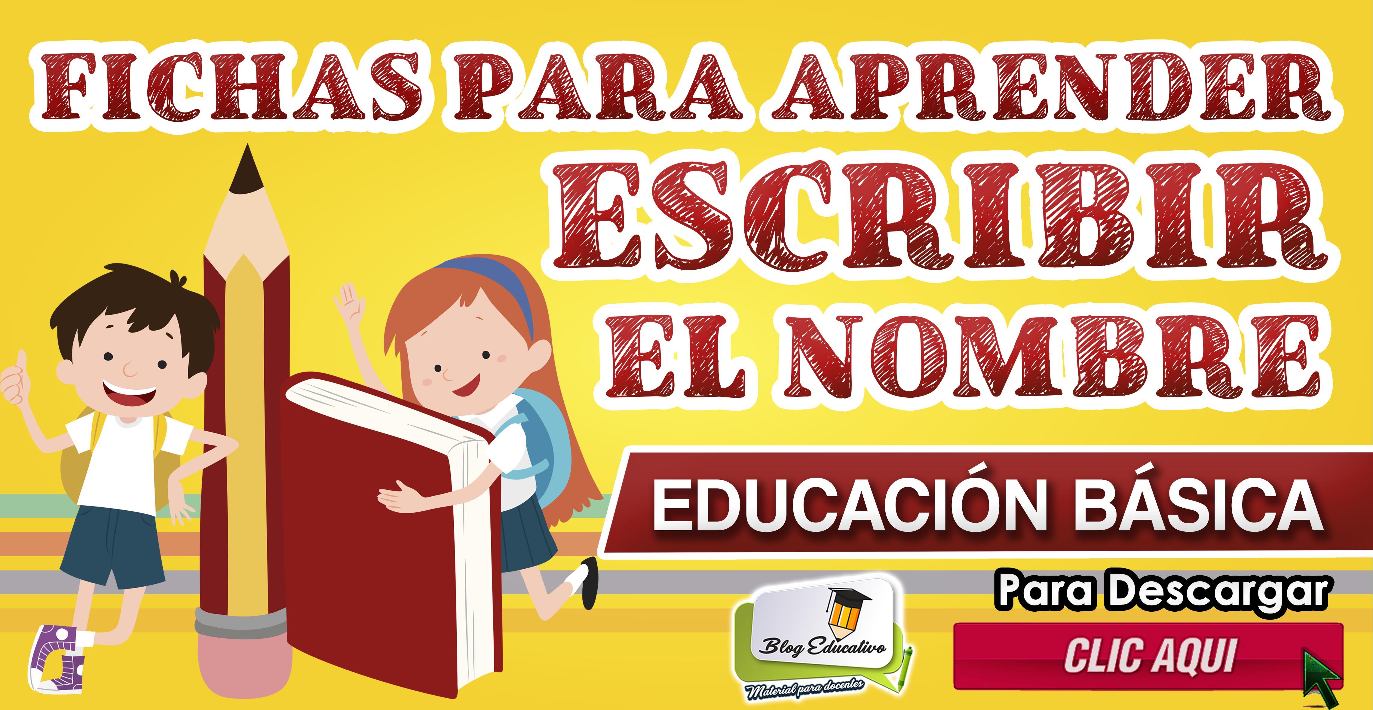 Fichas para aprender escribir el nombre - Blog Educativo