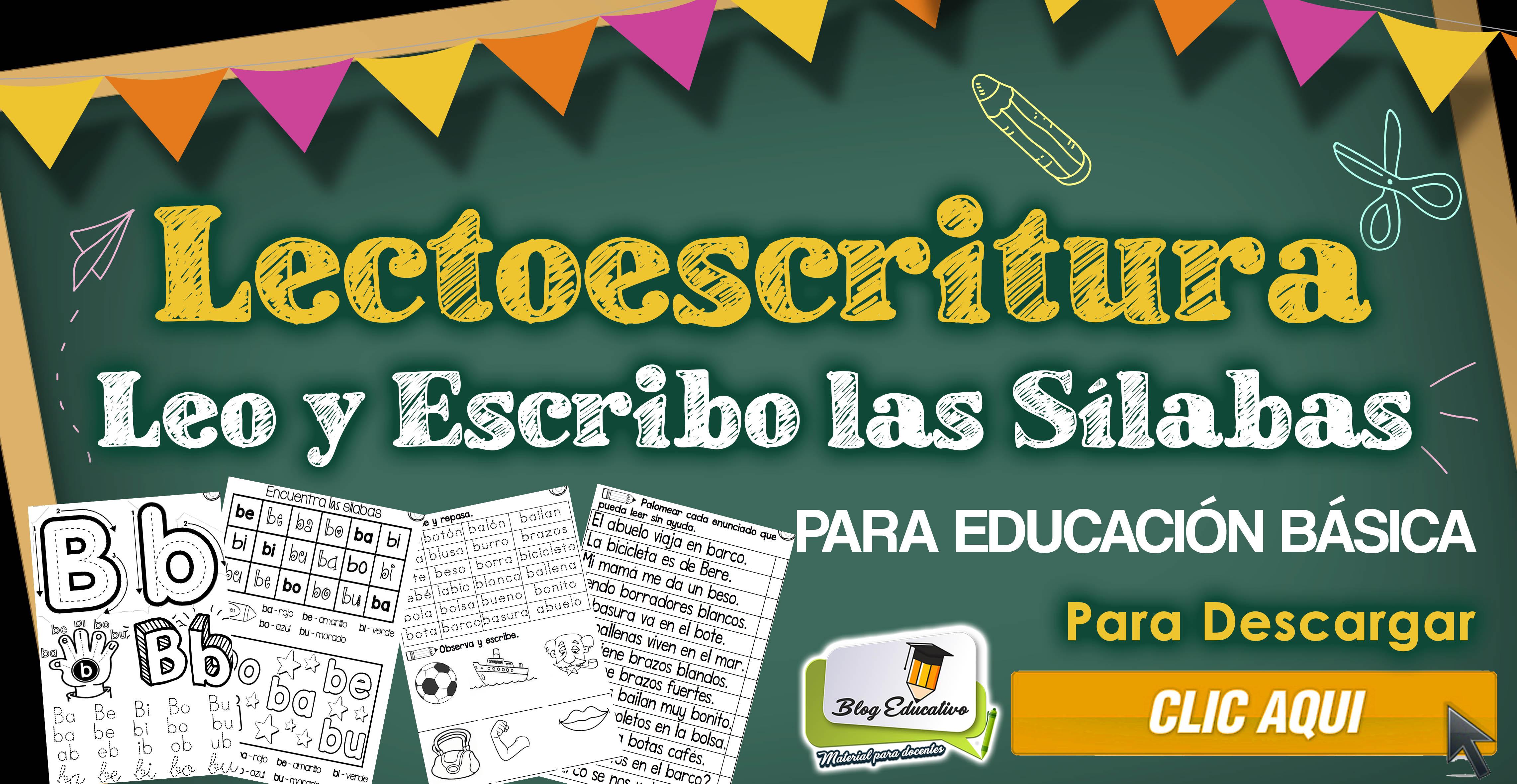 Lectoescritura leer y escribir las silabas - Blog Educativo