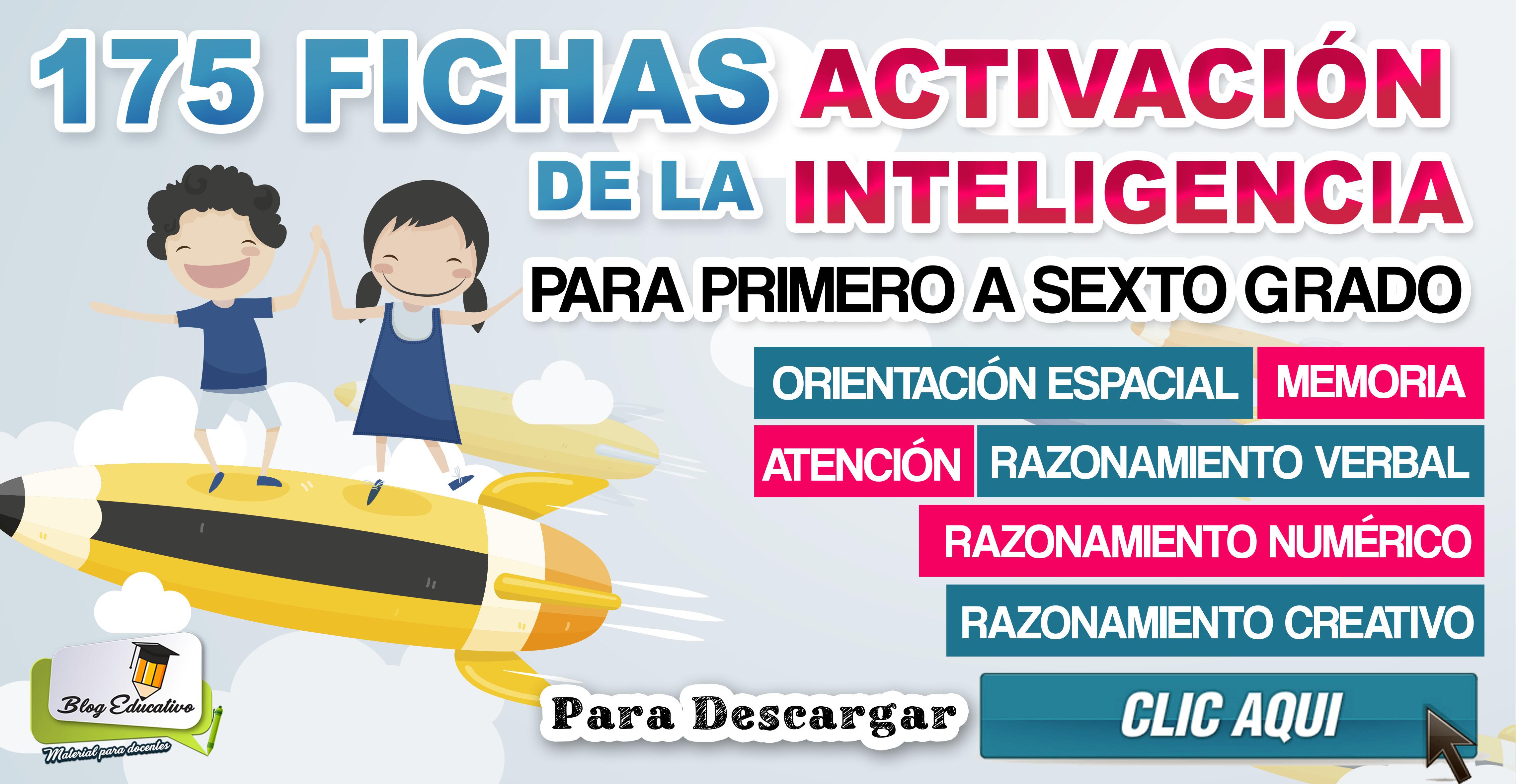 175 Fichas Activación de la inteligencia - Educación Primaria