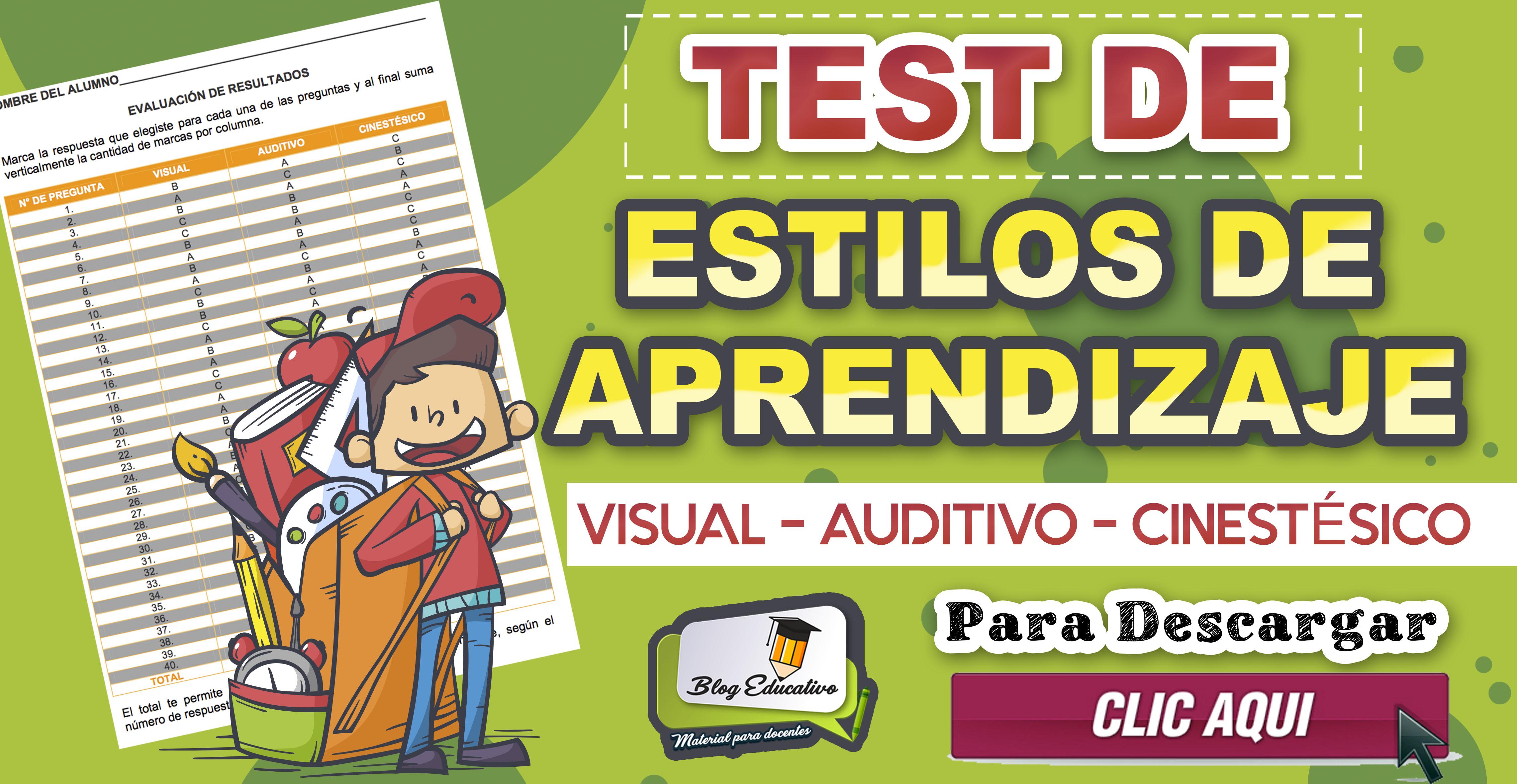 Test de estilos de Aprendizaje gratis - Blog Educativo