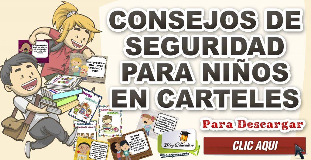 Consejos de seguridad para niños en carteles