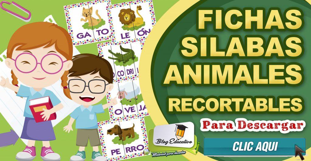 Fichas Silabas Animales Recortables