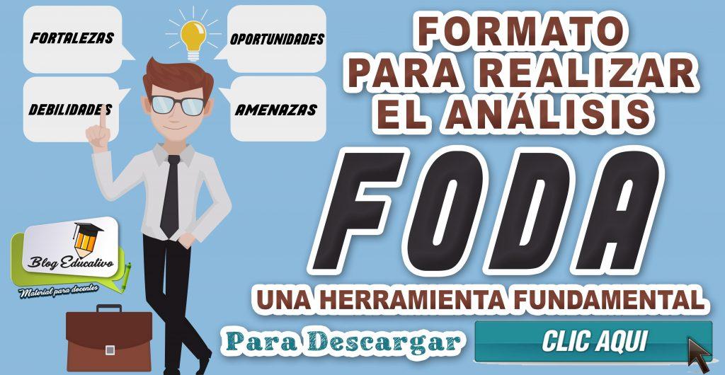 Formato para realizar el análisis FODA