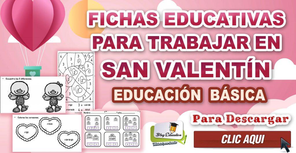 Fichas Educativas para trabajar en San Valentín