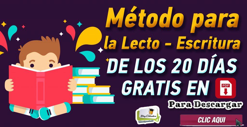 Método para la Lecto-escritura de los 20 días – gratis en Pdf