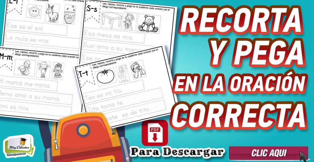 Recorta y pega en la oración Correcta – Blog educativo