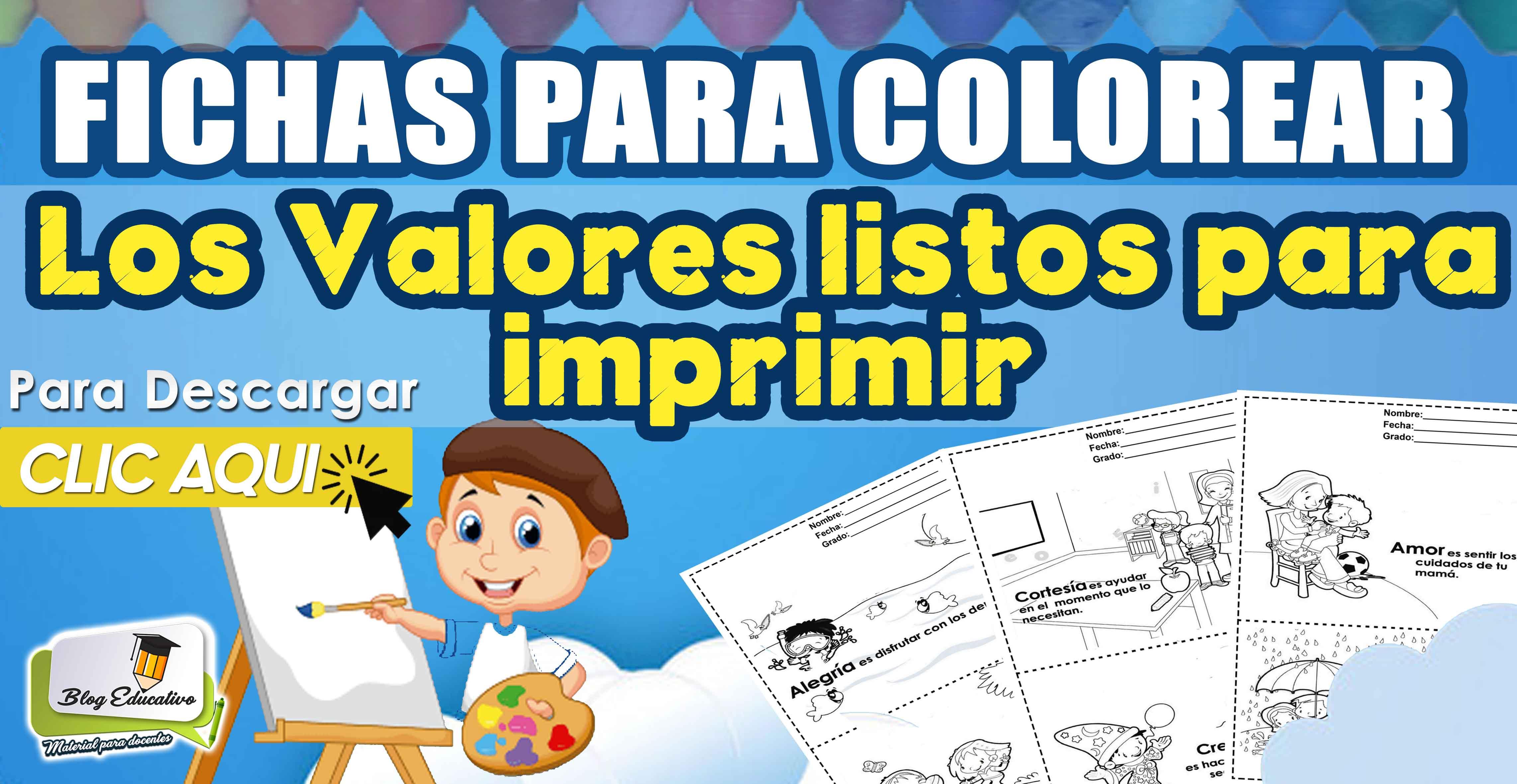 Fichas Para Colorear Los Valores Y Enseñarle La Importancia De Ellos